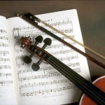 violin and score picture